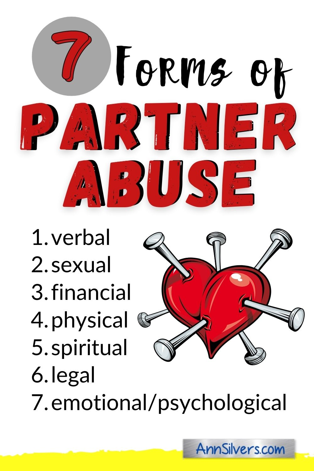domestic violence, emotional, verbal, sexual, physical, spiritual, financial, legal partner abuse