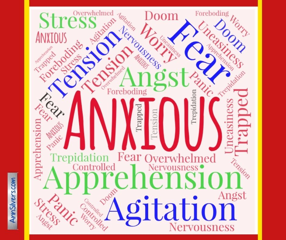 What are anxiety symptoms Word Cloud