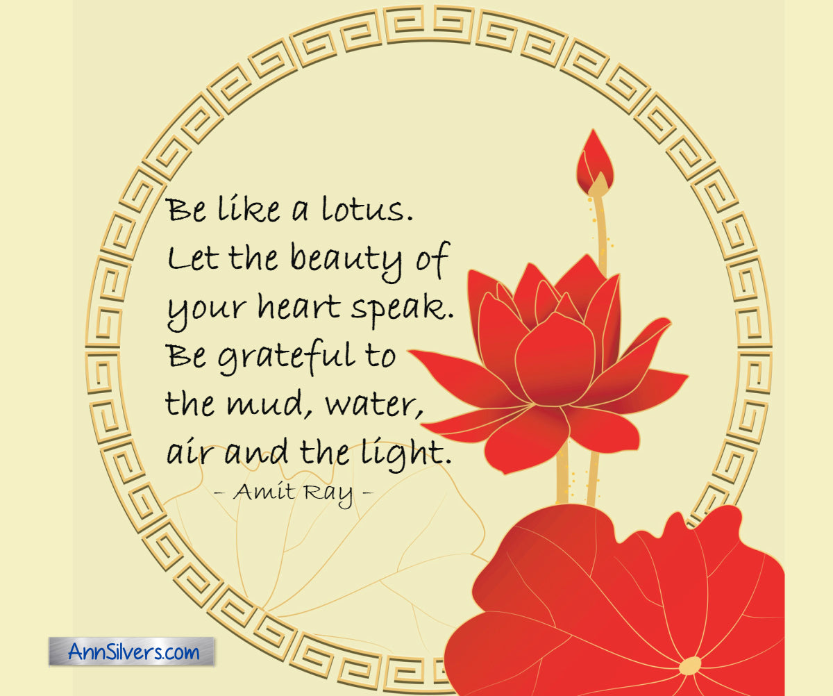 Be like the lotus Amit Ray inspiring quote