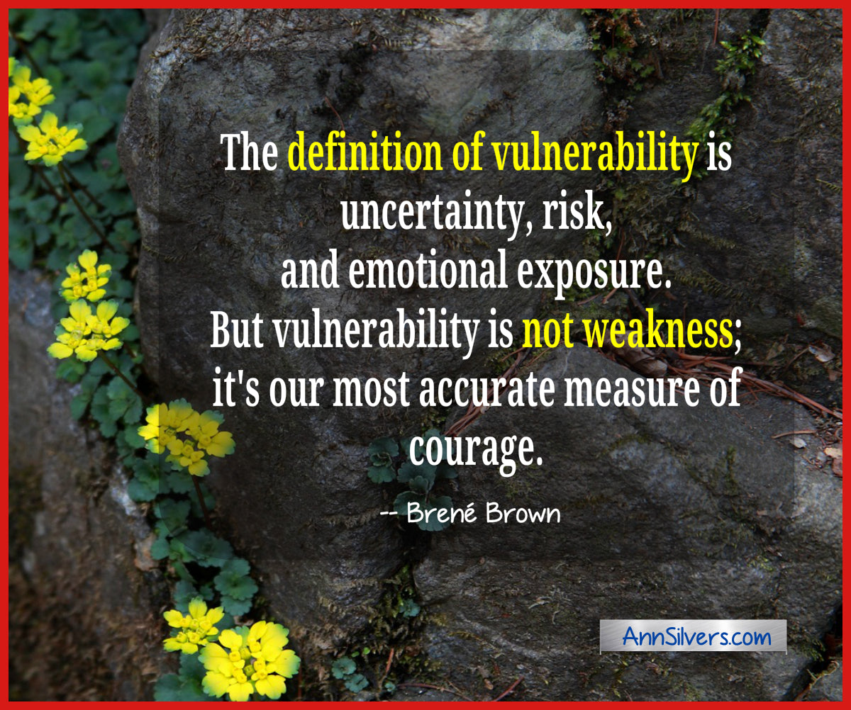 Brene Brown Vulnerability Definition Quote, The definition of vulnerability is uncertainty, risk, and emotional exposure.  But vulnerability is not weakness; it's our most accurate measure of courage