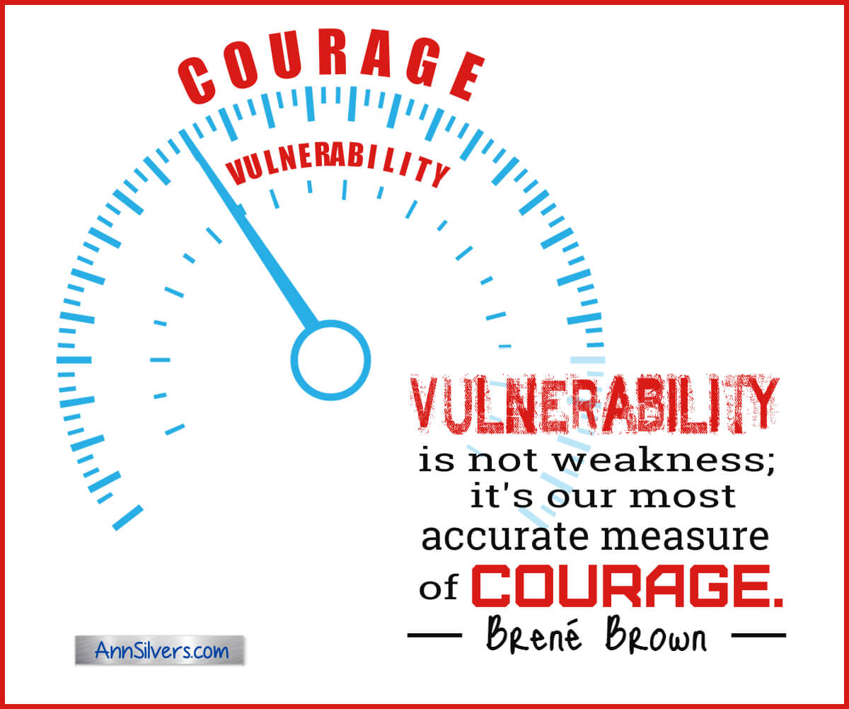 Brene Brown on vulnerability and courage quote