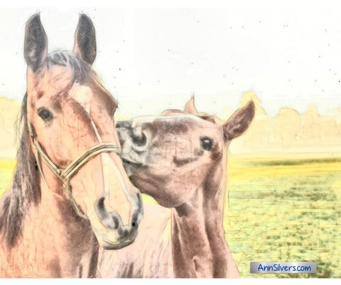 Chinese Farmer Fable horses graphic sketch