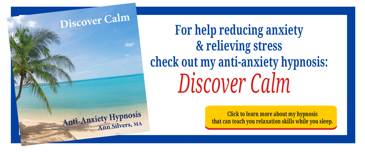 Discover Calm, anti anxiety hypnosis, relieving anxiety hypnosis or meditation