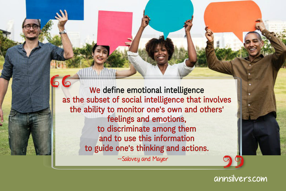 Salovey and Mayer definition of emotional intelligence quote. Emotional intelligence psychology definition.  What is EI and EQ. Learn about types of emotions and definition of feelings and emotions. Where emotions come from. Emotions definition and type. What are feelings and emotions. Emotional intelligence in relationships.