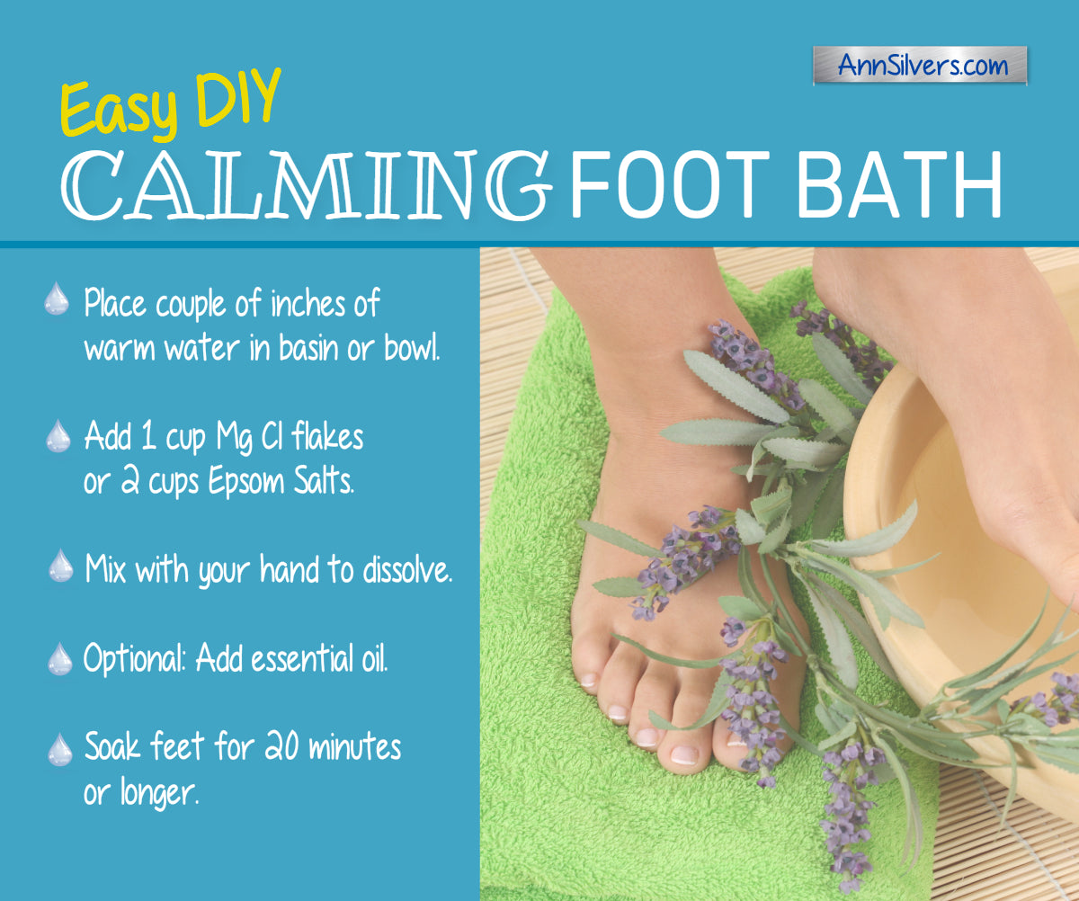 DIY Calming Foot Soak Recipe for stress and anxiety relief