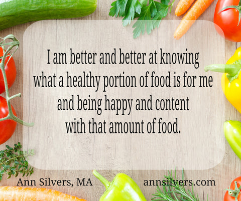 lose weight affirmation portion control mantra healthy lifestyle