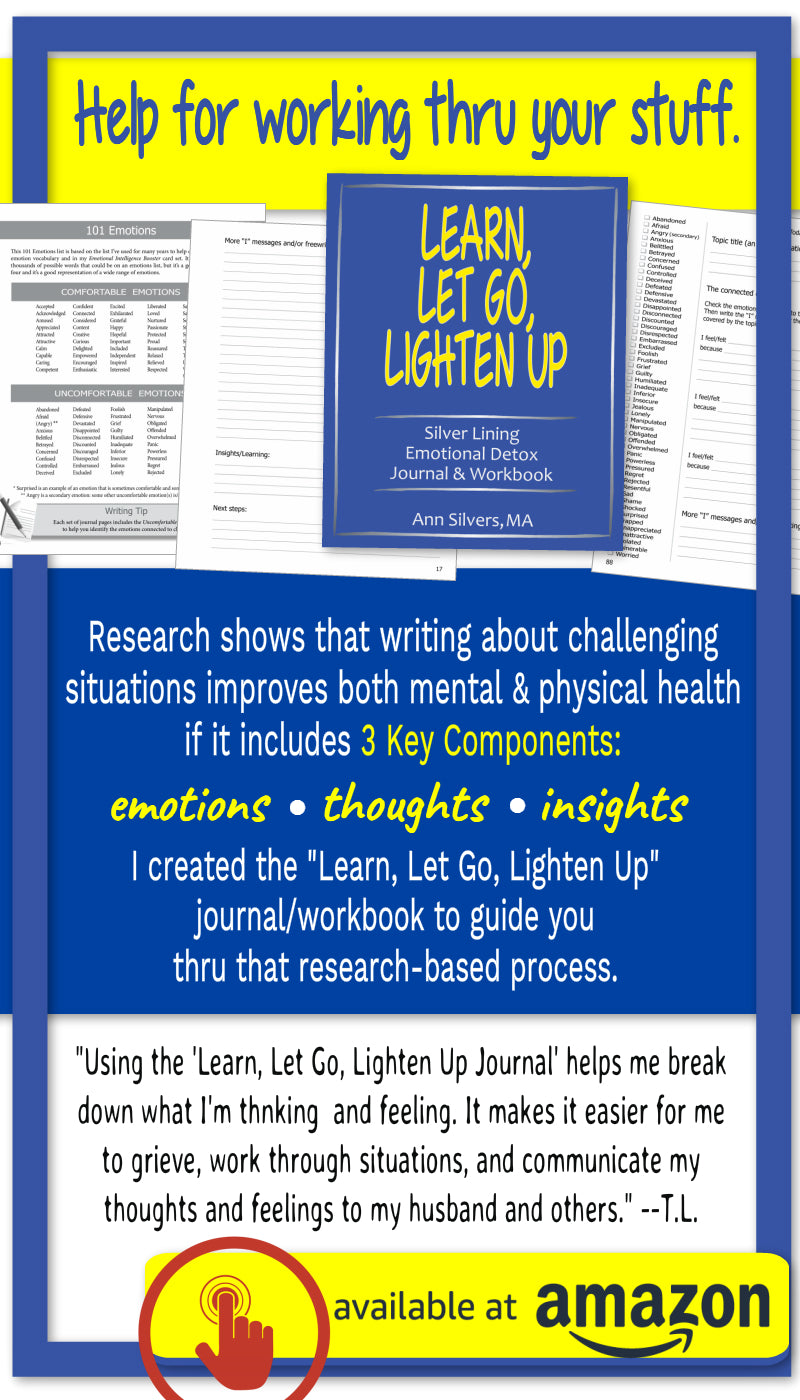 Learn, Let Go, Lighten Up: Silver Lining Emotional Detox Journal & Workbook