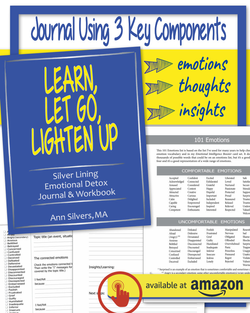 Learn, Let Go, Lighten Up: Silver Lining Emotional Detox Journal & Workbook, journaling prompts