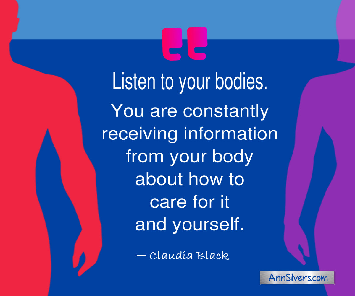 Listen to your bodies. Claudia Black quote. Caffeine and Anxiety Blog Post.