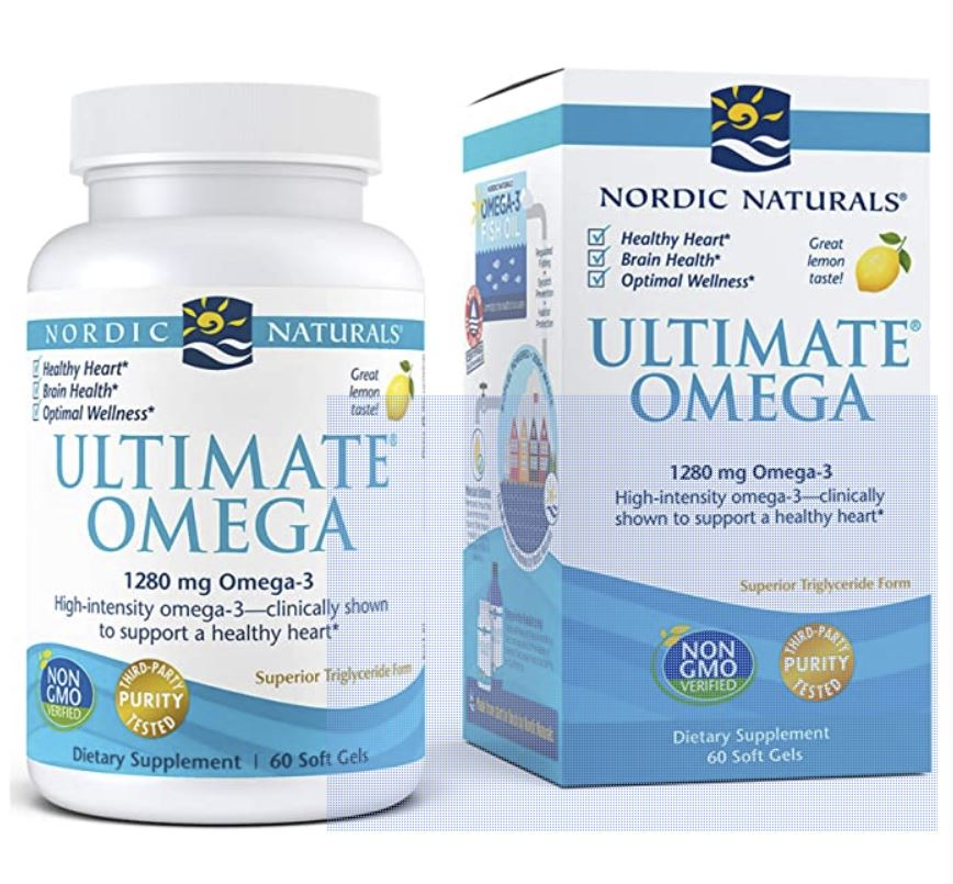 Nordic Naturals Fish Oil omega 3 fatty acids for depression, anxiety, mental health