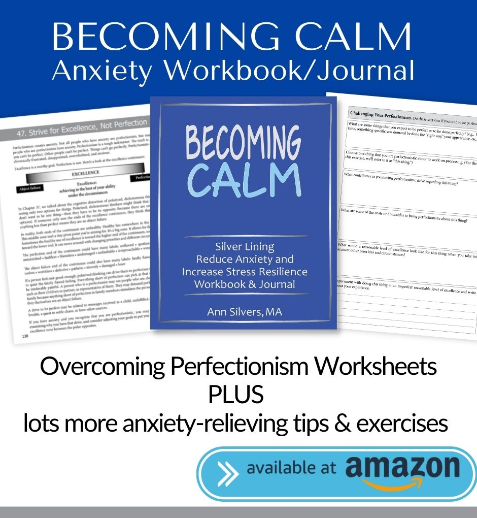 Becoming Calm: Silver Lining Reduce Anxiety and Increase Stress Resilience Workbook and Journal