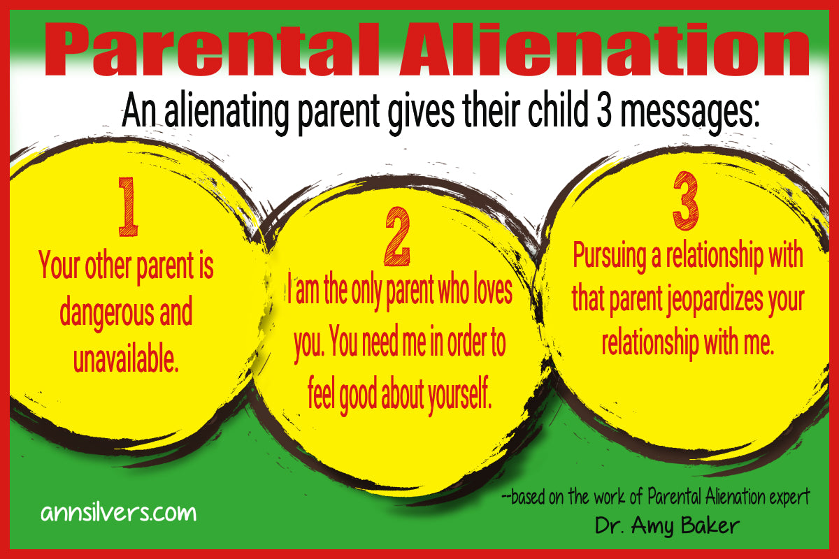 What is Parental Alienation, Parent Alienation messages, manipulative women, abusive women, children and divorce