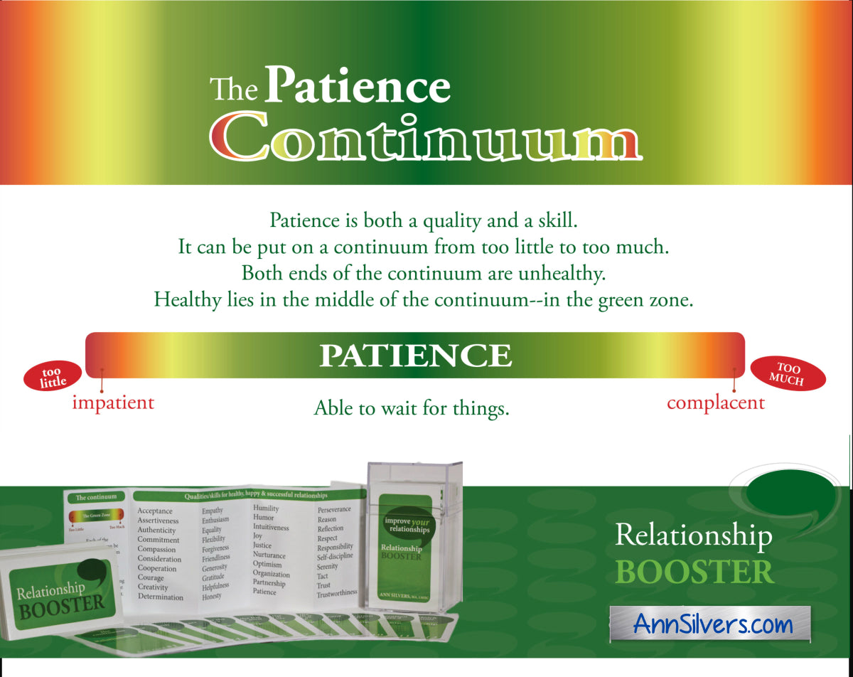 Relationship Booster Patience definition