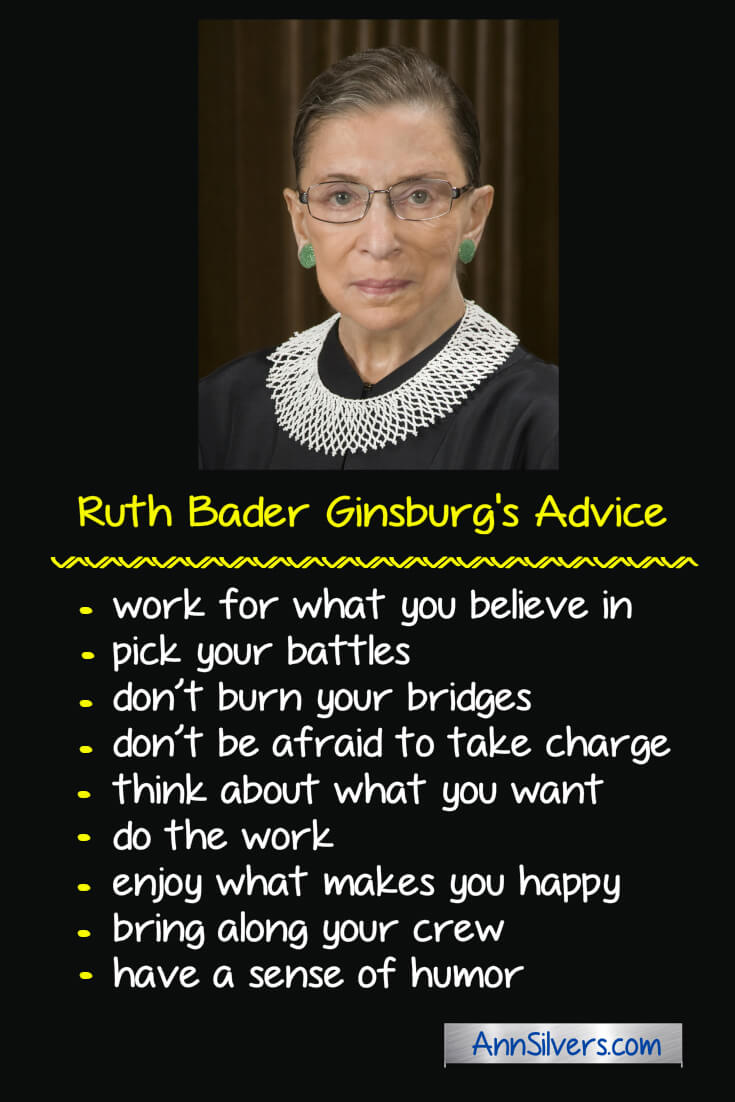 Ruth Bader Ginsburg Advice Quote Notorious RBG