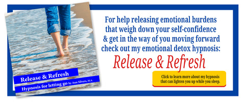 release and refresh hypnosis, anti-anxiety anti-depression hypnosis recording, emotional detox, relaxation techniques. hypnosis for success