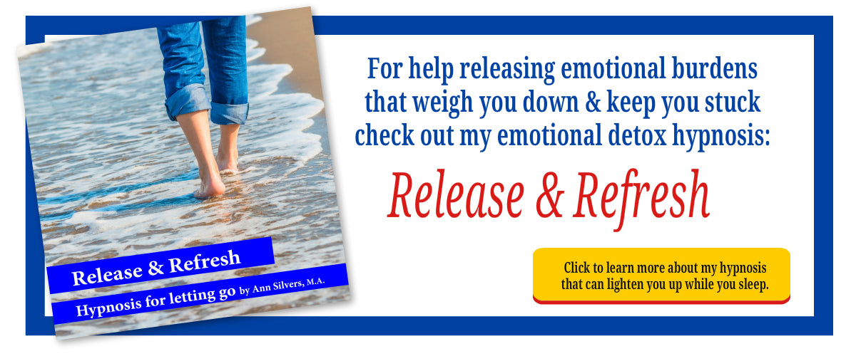 release and refresh hypnosis, anti-anxiety anti-depression hypnosis recording, emotional detox,