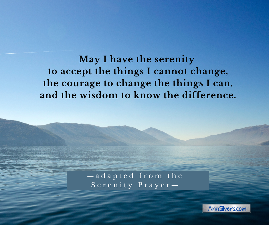 Serenity Prayer to reduce anxiety and relieve stress