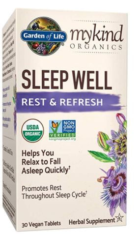 Sleep Well nervine herbs and theanine for insomnia