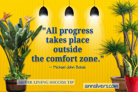 daily short positive inspirational motivational quotes and sayings about success. comfort zone quote Michael John Bobak