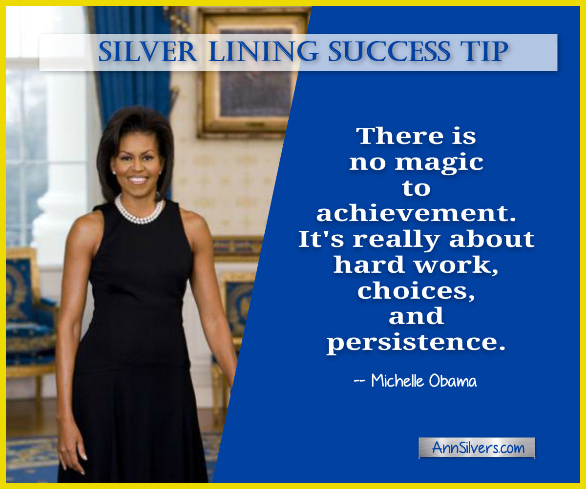 daily short positive inspirational motivational quotes and sayings about success. Michelle Obama success quote.