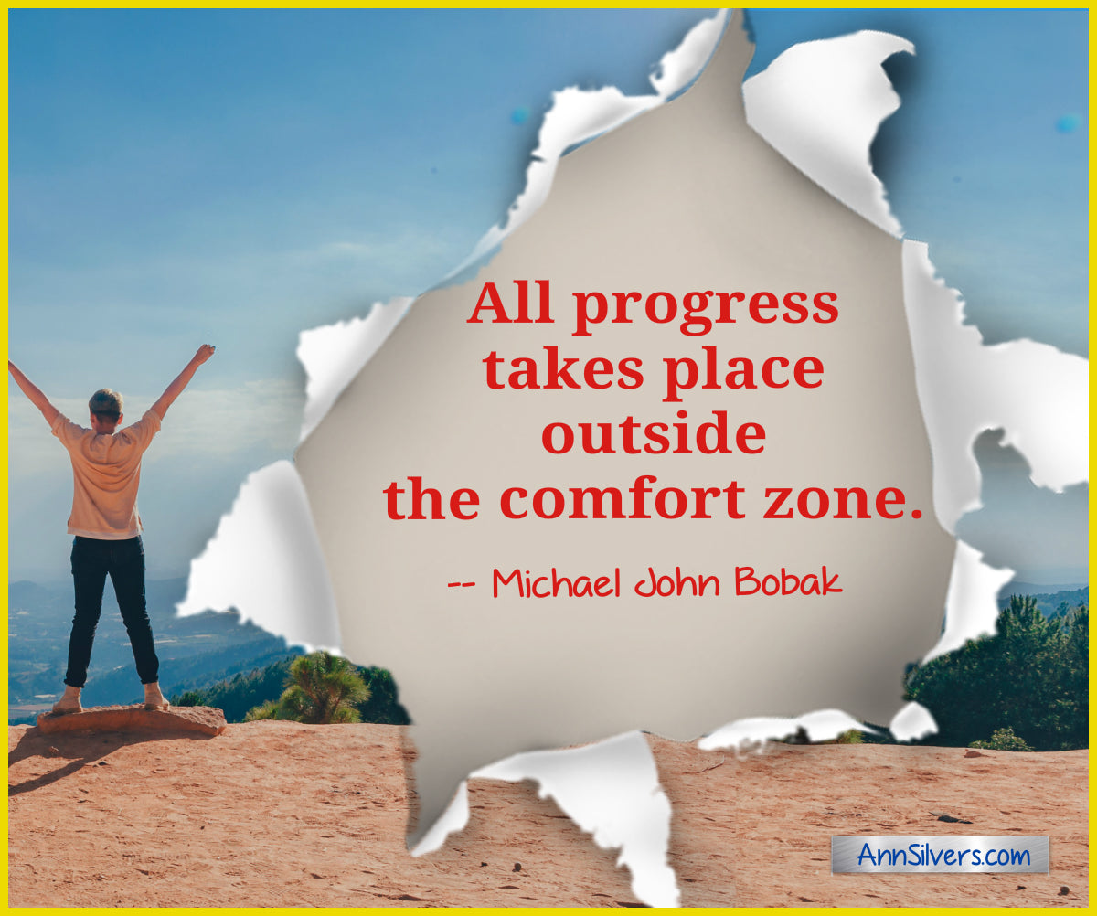 10 daily short positive inspirational motivational quotes and sayings about success. comfort zone quote Michael John Bobak