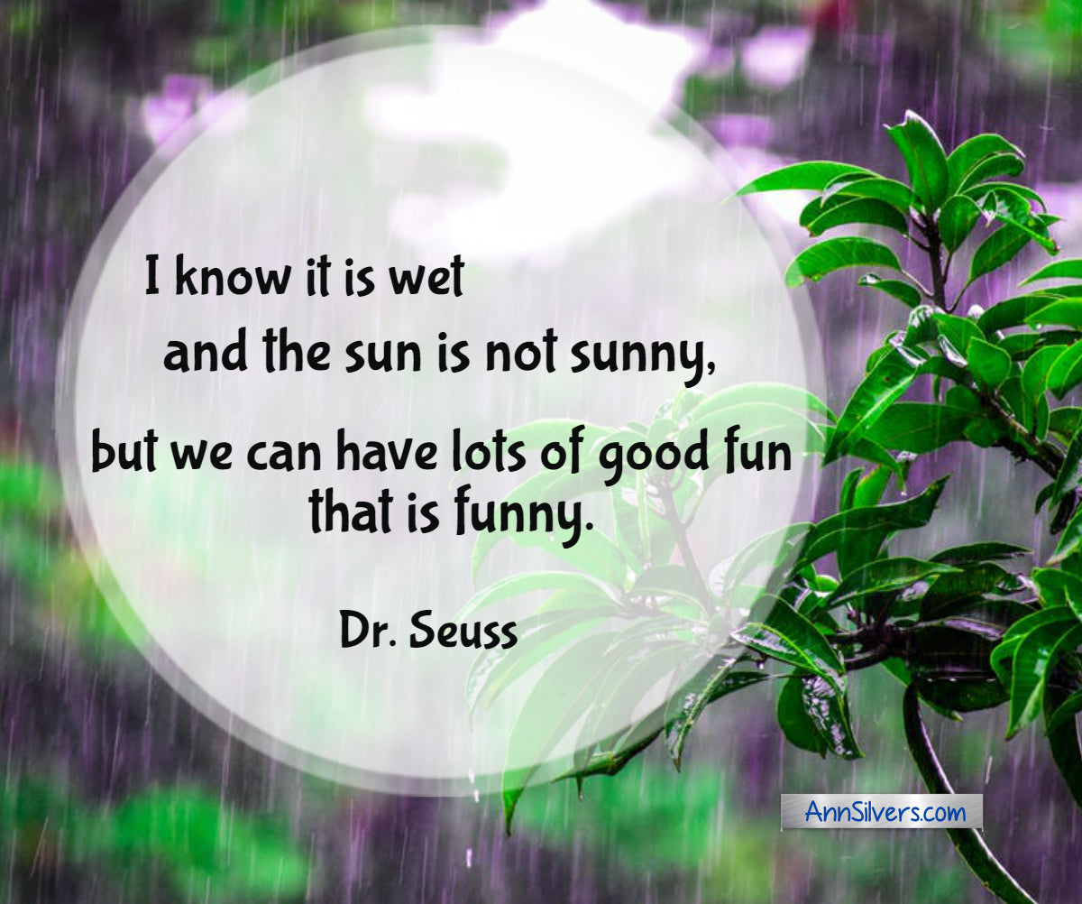 I know it is wet and the sun is not sunny, but we can have lots of good fun that is funny. Best Famous Dr. Seuss Quotes