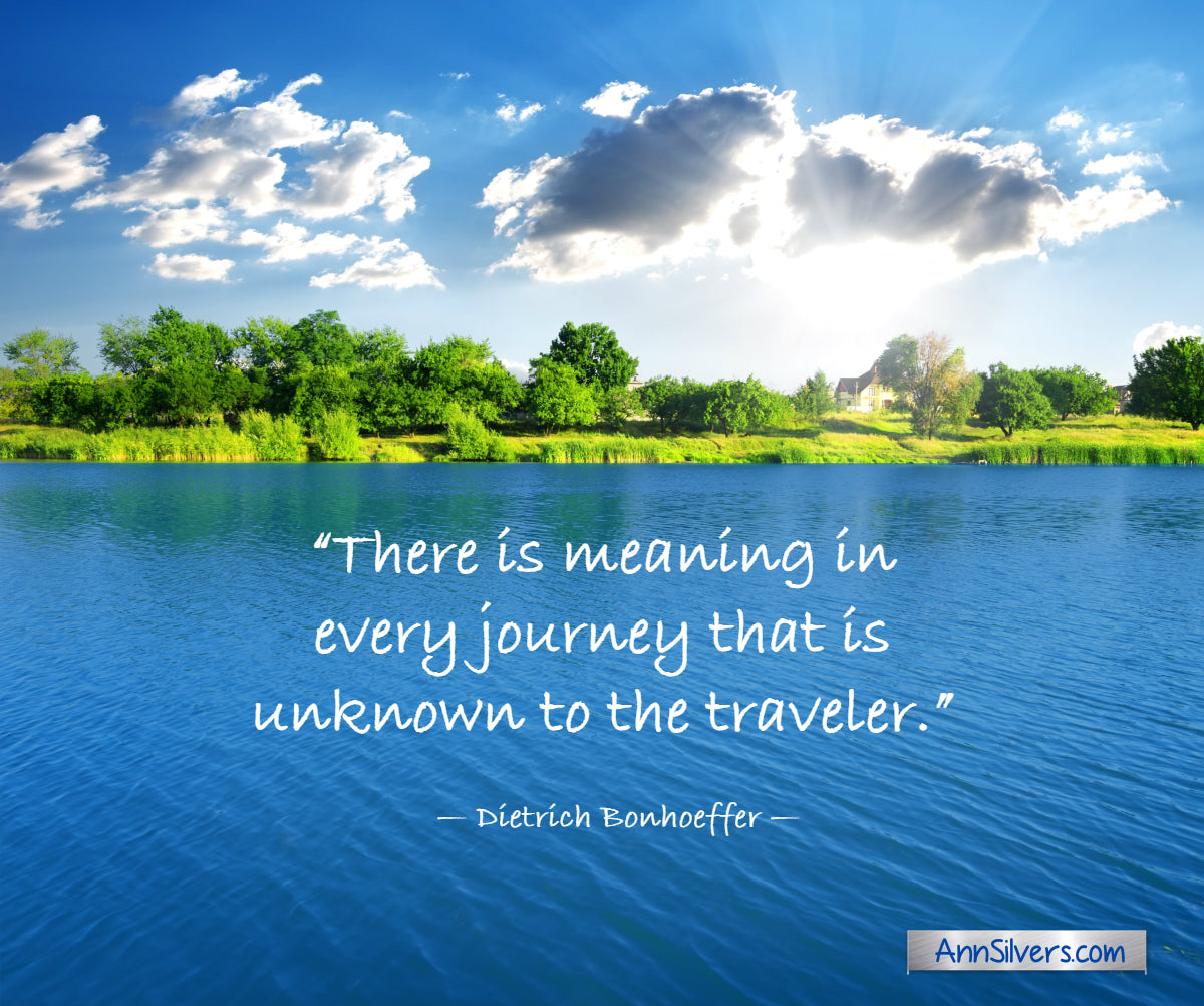 There is meaning in every journey Bonheoffer quote