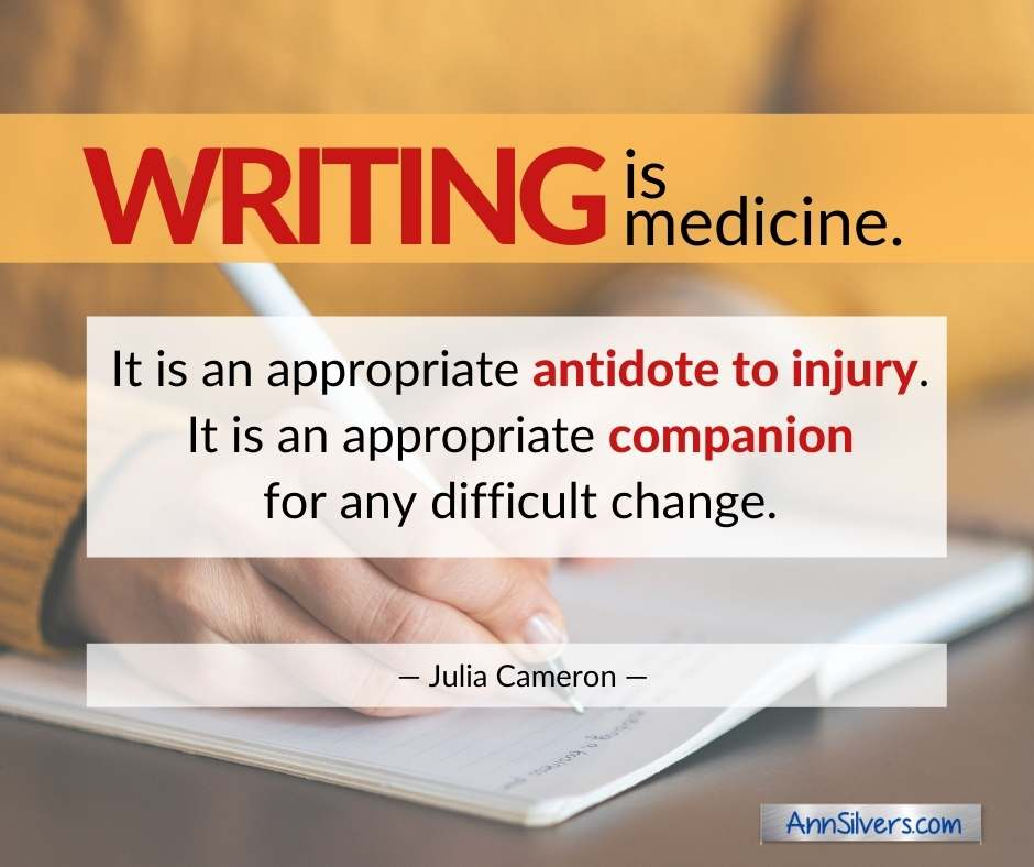 Writing is medicine quote about journaling benefits