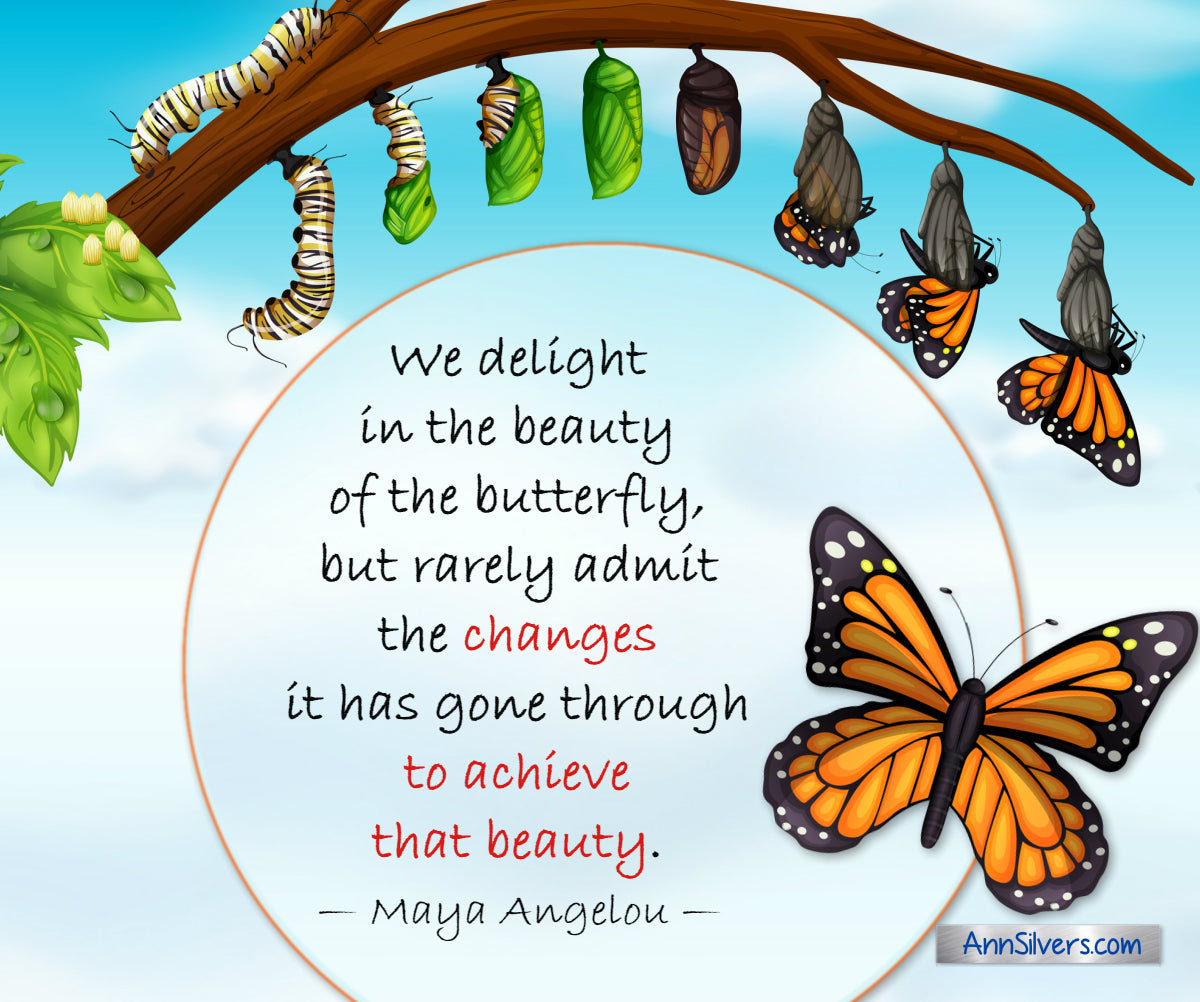 Maya Angelou encouraging quote about change