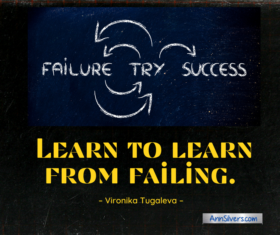 Failure is a good thing perfectionism quote