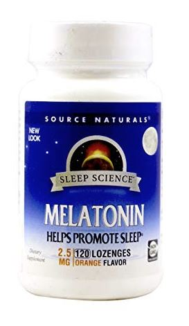 Source Naturals Sleep Science Melatonin 2.5mg Orange Flavor , insomnia treatment