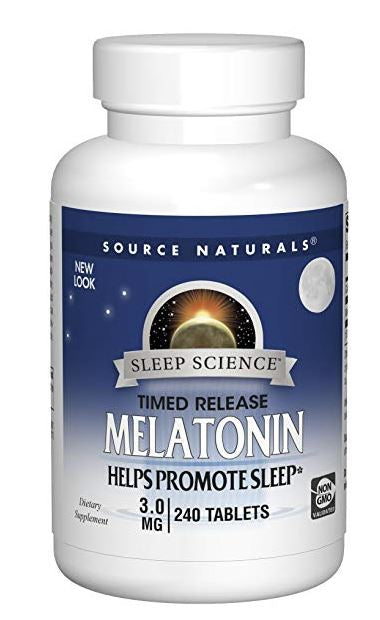Source Naturals Sleep Science Melatonin 3 mg Helps Promote Sleep