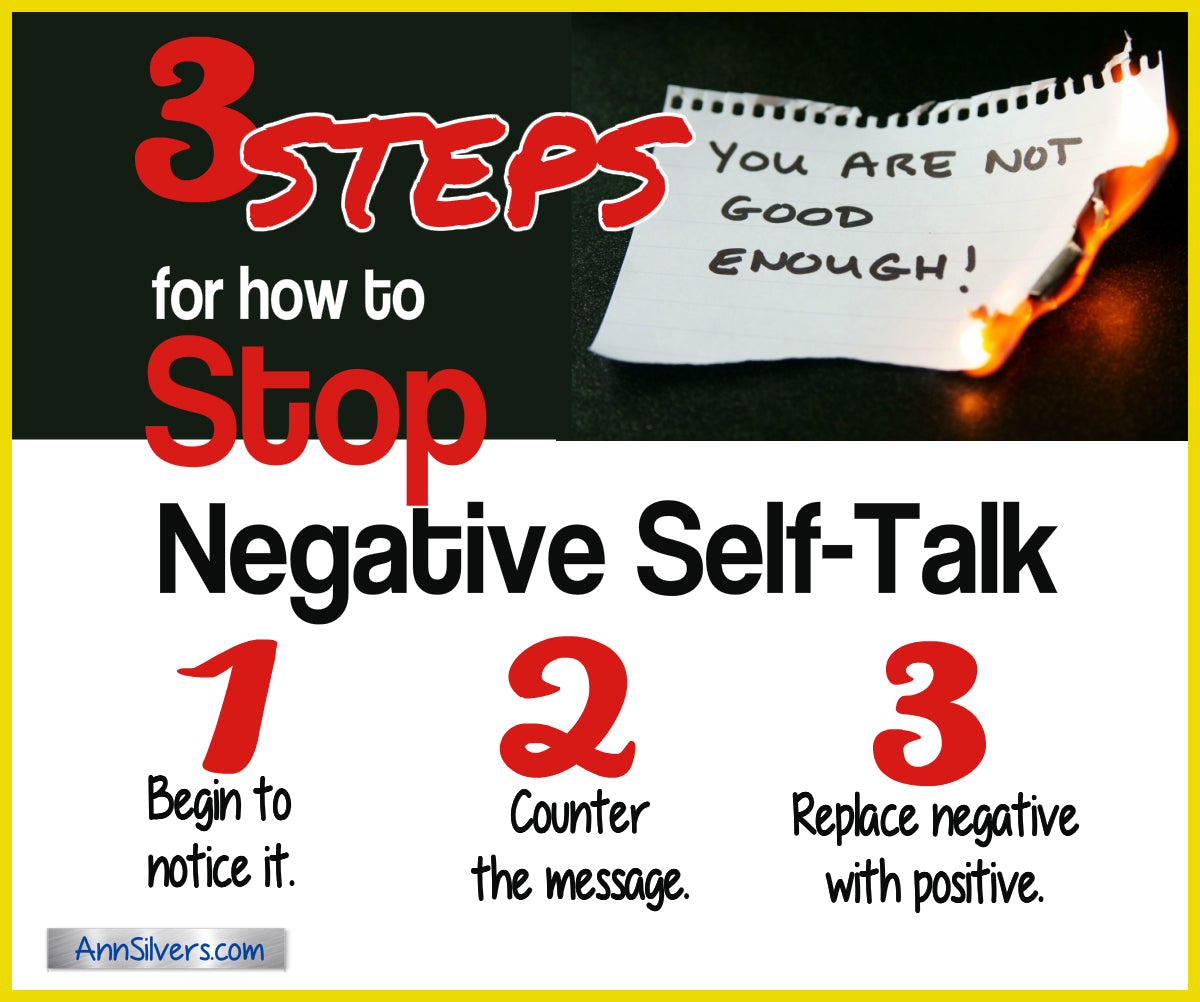 How to stop negative self talk, what to say when you talk to yourself, negative self talk examples