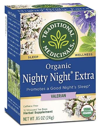 Traditional Medicinals Organic Nighty Night Valerian Relaxation Tea, Anti-Anxiety Tea, Stress Relieving Tea Gift for people with anxiety