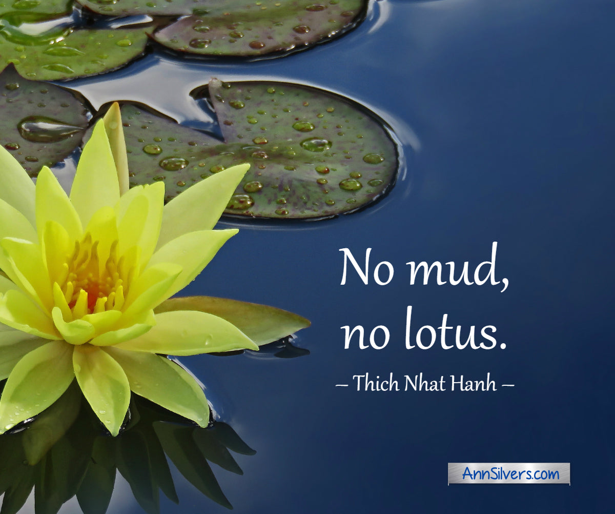 No mud, no lotus. Thich Nhat Hanh quote