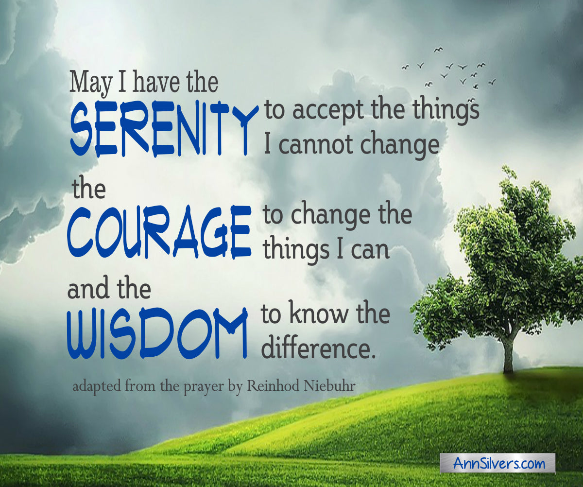 Serenity Prayer for difficult times