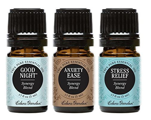 Edens Garden Anxiety Ease, Good Night & Stress Relief Essential Oil Synergy Blend, Anti-Anxiety Gifts, Stress Relieving Gift for people with anxiety