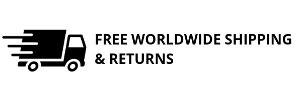 Free worldwide shipping & returns