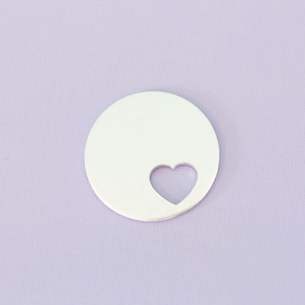 "1.25"" Round with Offset Tiny Heart .45"""