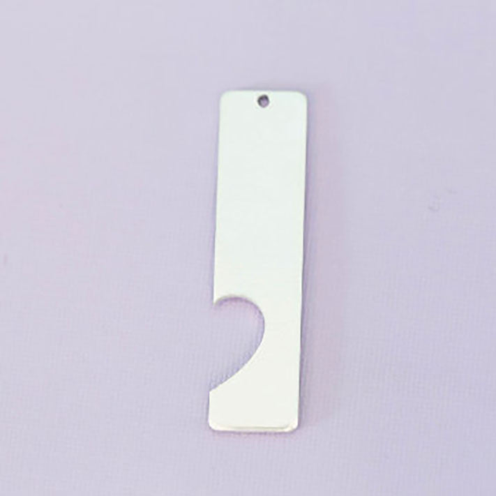 Right Side Aluminum Rectangle Half Heart Cutout