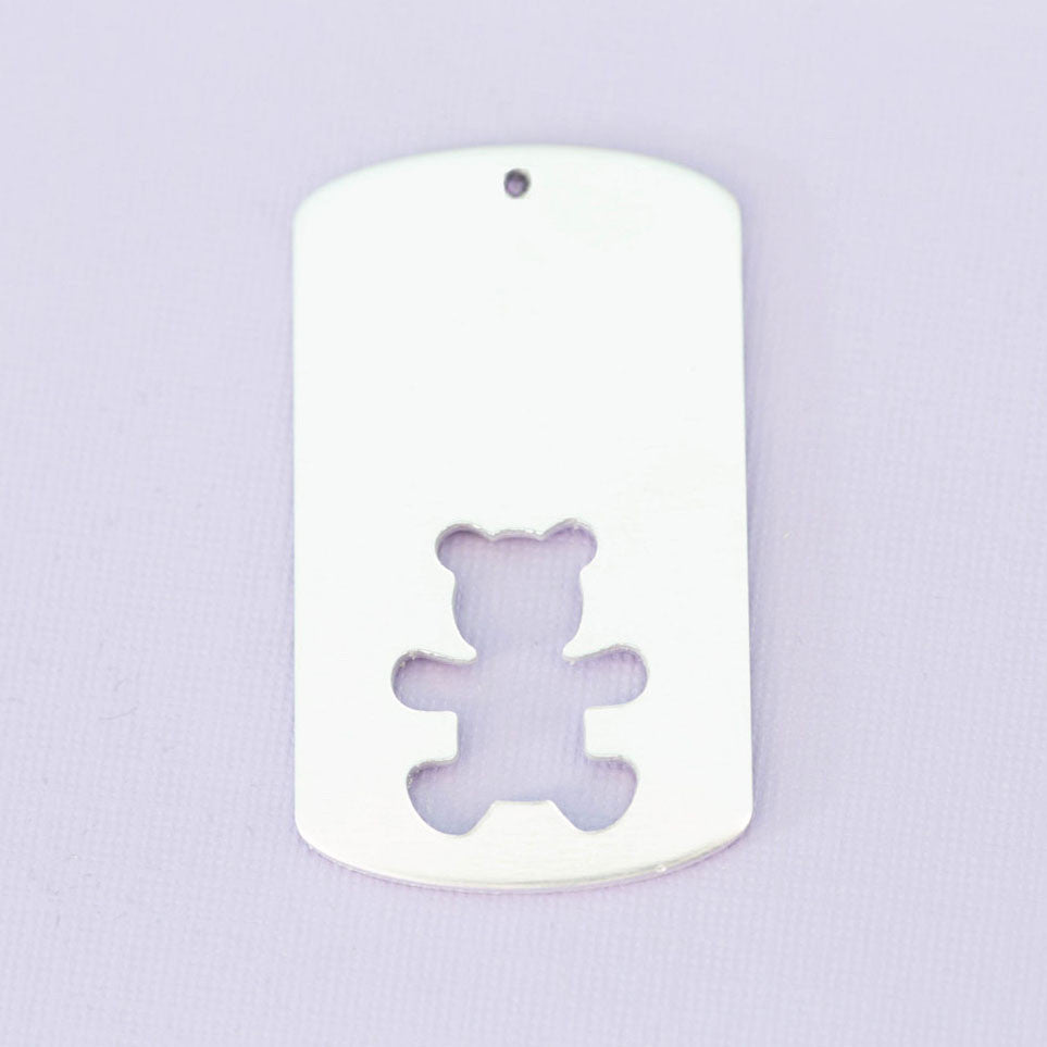 Large Dogtag with Bear Cutout