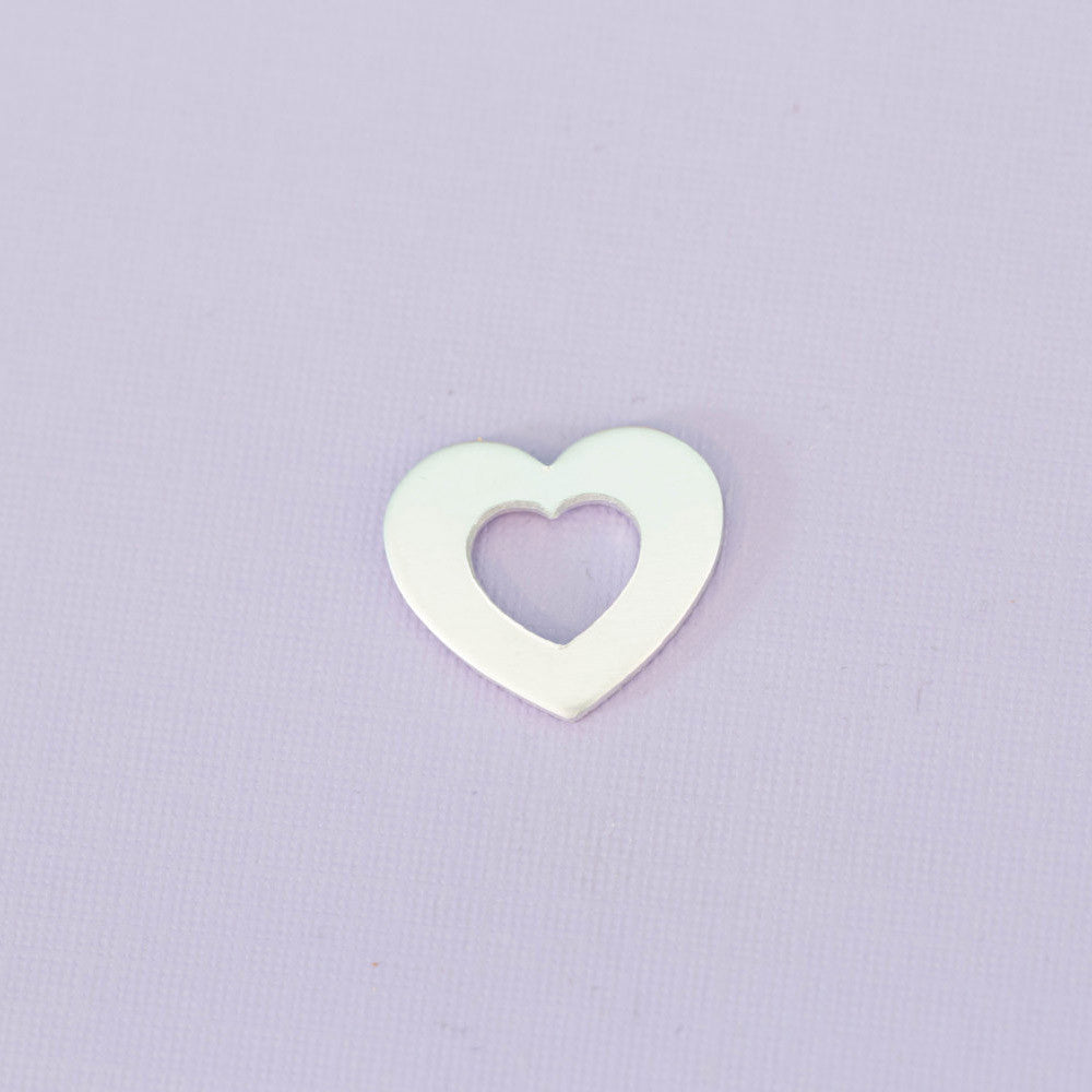 Medium Aluminum Heart Washer