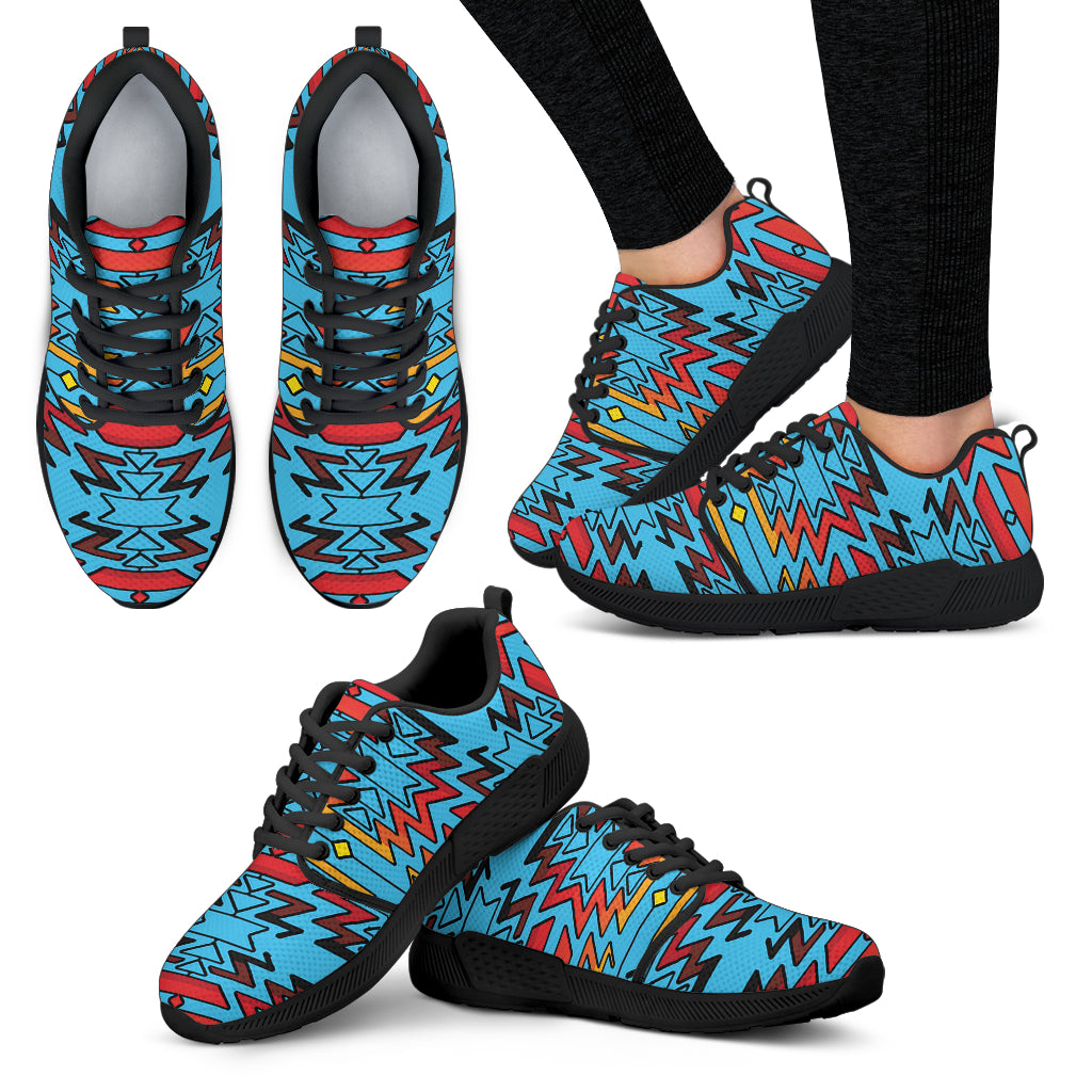 Turquoise Fire and Turquoises Sopo Women's Athletic Sneakers