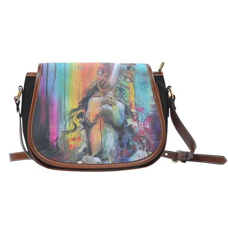 Inside My Spirituality - Canvas Saddle Bag