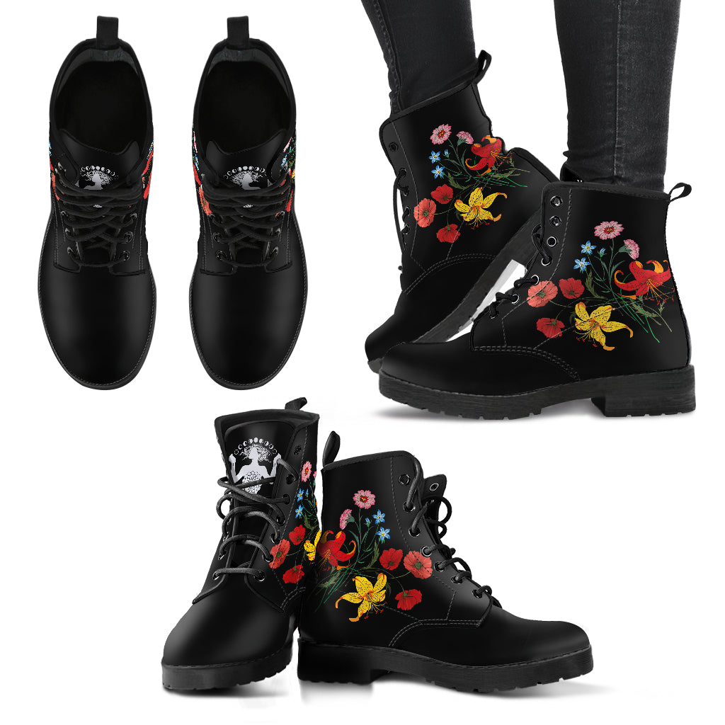 Flowers - Vegan Women's Boots