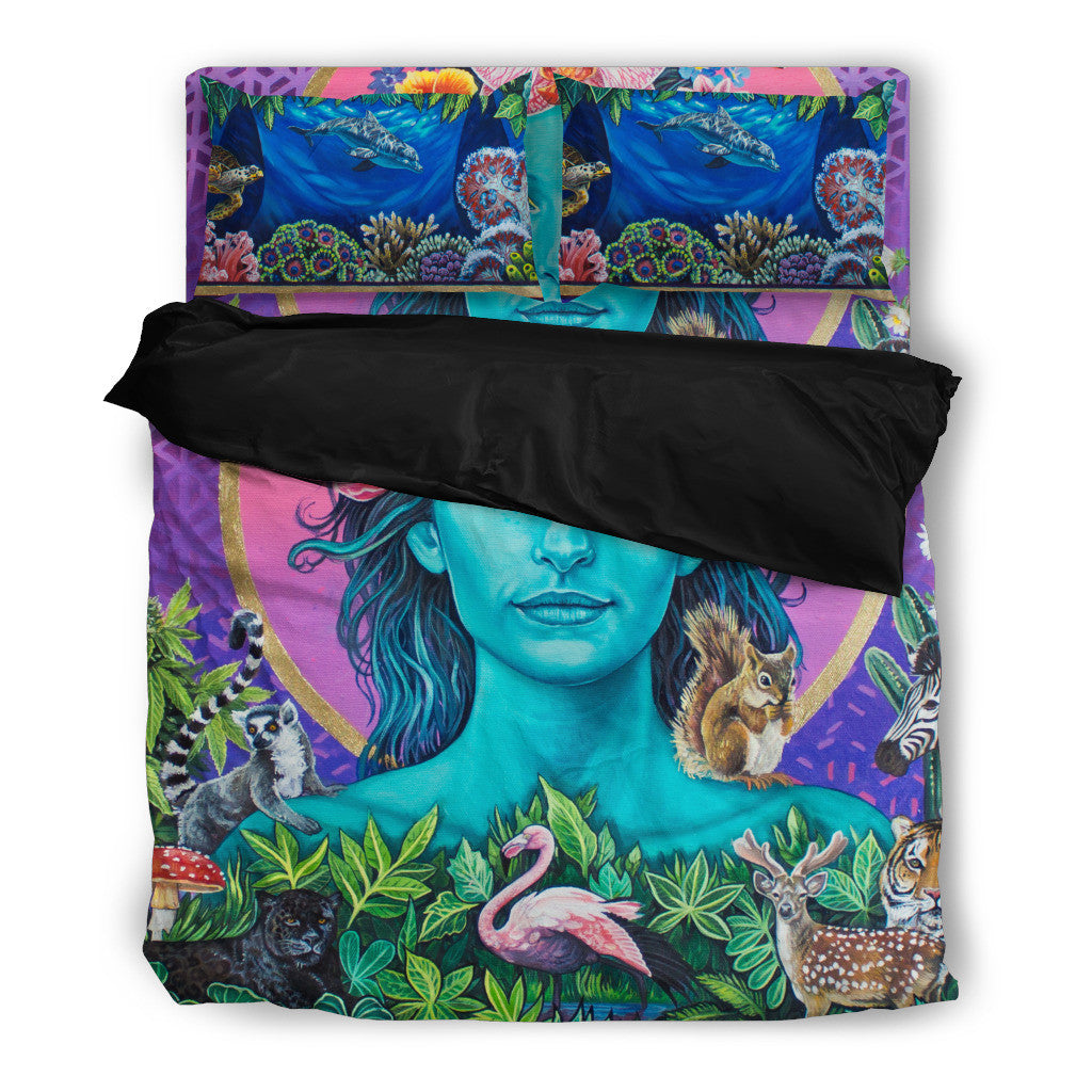 Mother Earth Vibration -  Vegan Bedding Set