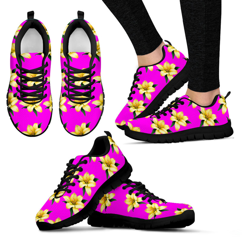Yellow Flower - Women's Sneakers