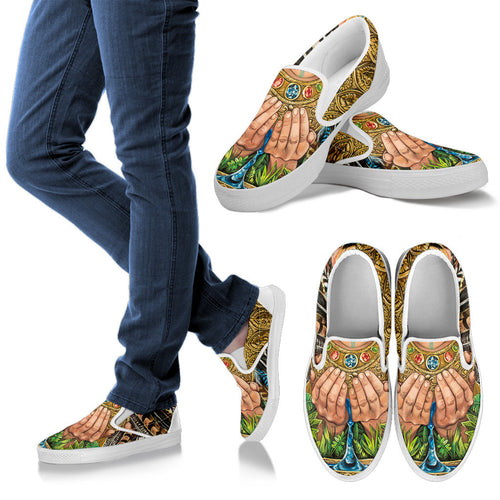 Water Of Wisdom - Women's Slip Ons