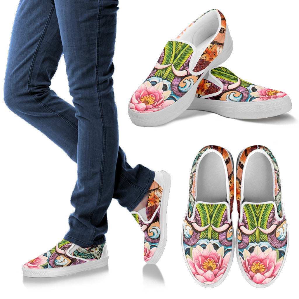 The Lotus - Vegan Women's Slip Ons