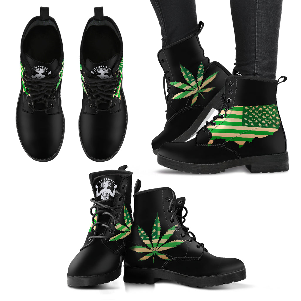 Cannabis USA I - Vegan Women's Boots